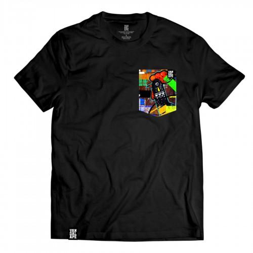 Tričko s vreckom krátky rukáv grafický dizajn Tear of Cock