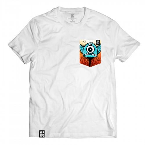 Tričko s vreckom krátky rukáv grafický dizajn One Eye Freak