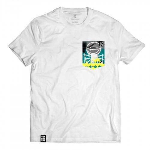 Tričko s vreckom krátky rukáv grafický dizajn My First Graffiti
