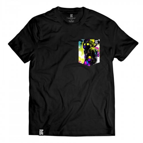 Tričko s vreckom krátky rukáv grafický dizajn Vandal