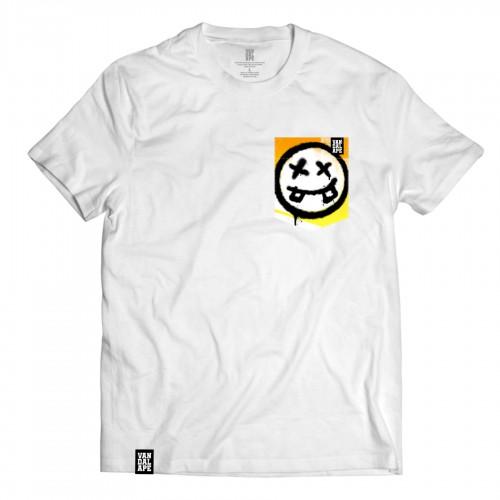 Tričko s vreckom krátky rukáv grafický dizajn Graffiti Smile