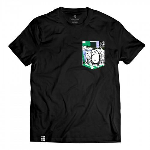 Tričko s vreckom krátky rukáv grafický dizajn Rude Monsters