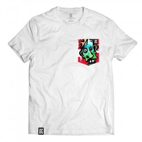 Tričko s vreckom krátky rukáv grafický dizajn The King