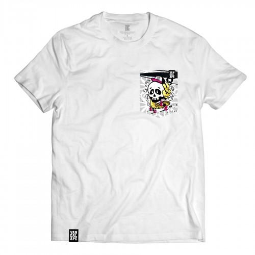 Tričko s vreckom krátky rukáv grafický dizajn Victory Skater
