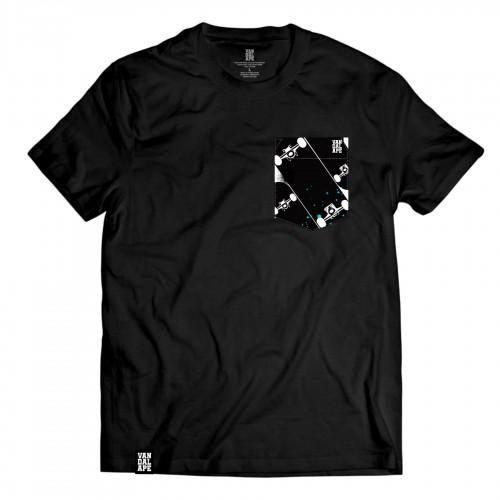 Tričko s vreckom krátky rukáv grafický dizajn Skateboards