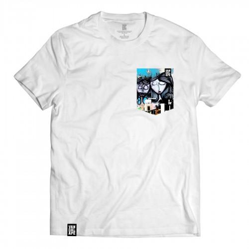 Tričko s vreckom krátky rukáv grafický dizajn Dreaming Lovers