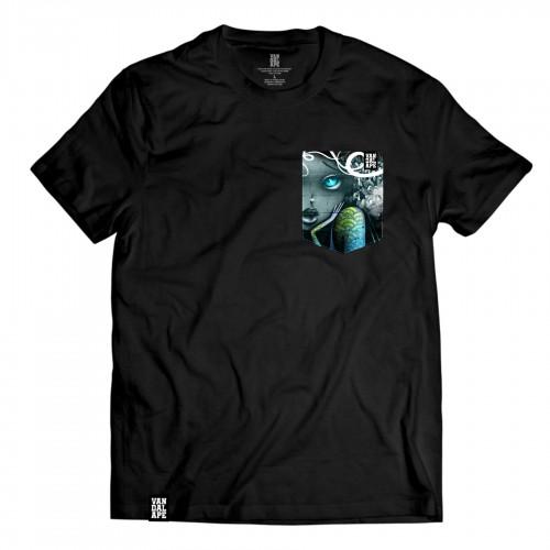 Tričko s vreckom krátky rukáv grafický dizajn Wall Beauty