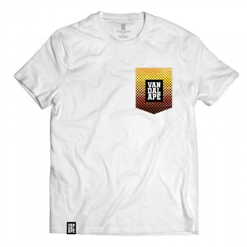 Tričko s vreckom krátky rukáv grafický dizajn VandalApe Pattern