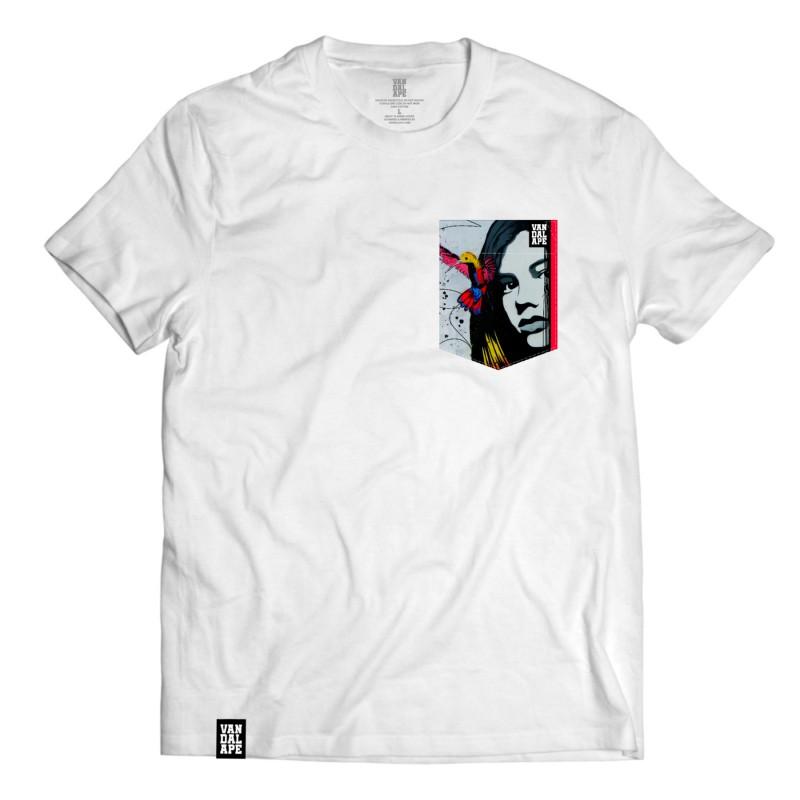 Tričko s vreckom krátky rukáv grafický dizajn Hummingbird Girl