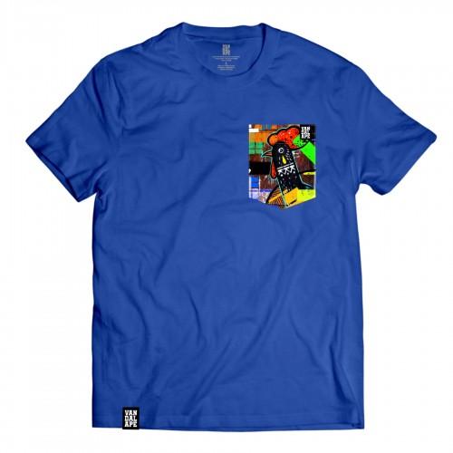Veľkosť L - Tričko s vreckom krátky rukáv grafický dizajn Tear of Cock