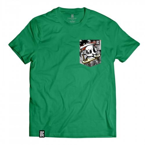 Veľkosť M - Tričko s vreckom krátky rukáv grafický dizajn Skate or Die