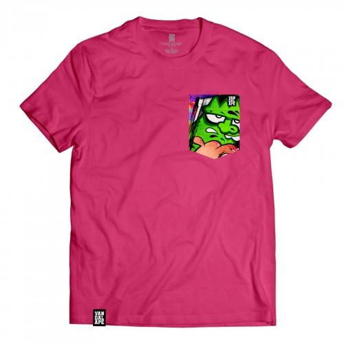 Veľkosť L - Tričko s vreckom krátky rukáv grafický dizajn Green Head