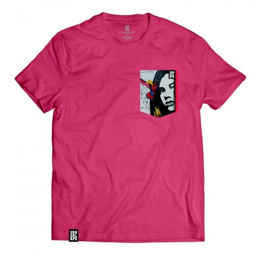 Veľkosť M - Tričko s vreckom krátky rukáv grafický dizajn Hummingbird Girl