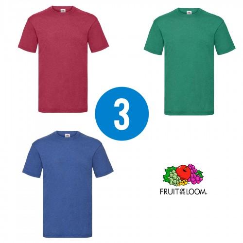 3 PACK - Pánske tričko VALUEWEIGHT T , Heather red, Heather green, Heather royal