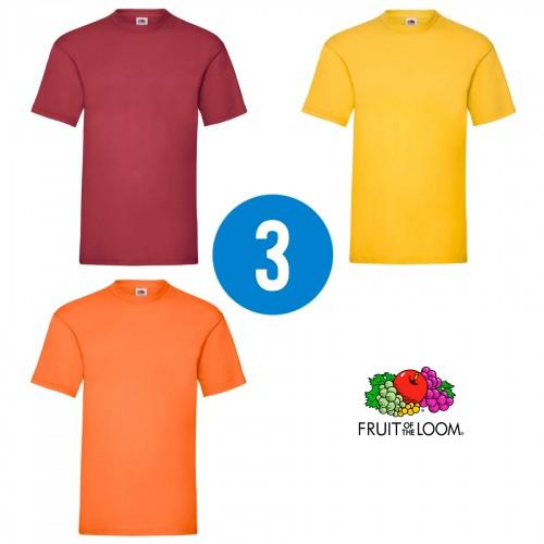 3 PACK - Pánske tričko VALUEWEIGHT T , Brick red, Sunflower, Orange
