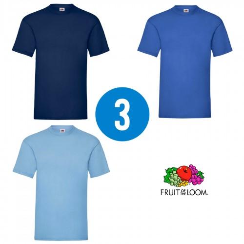 3 PACK - Pánske tričko VALUEWEIGHT T , Navy, Royal blue , Sky blue