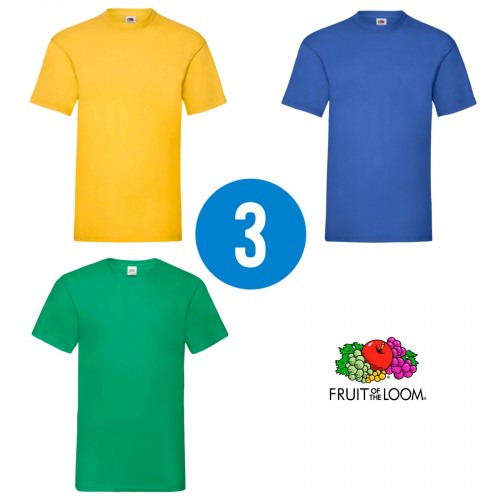3 PACK - Pánske tričko VALUEWEIGHT T , Sunflower, Royal blue, Kelly green
