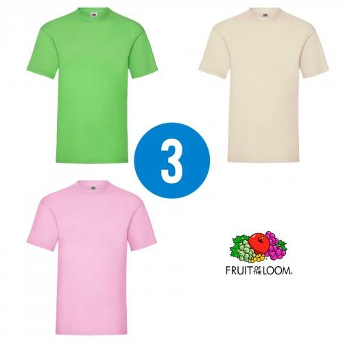 3 PACK - Pánske tričko VALUEWEIGHT T , Lime, Natural, Light pink