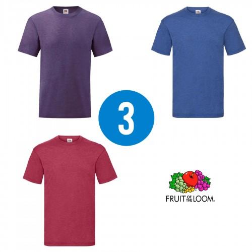 3 PACK - Pánske tričko VALUEWEIGHT T , Heather purple, Heather royal, Heather red