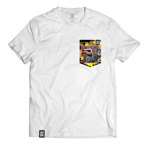 Tričko s vreckom krátky rukáv grafický dizajn Shitty Day